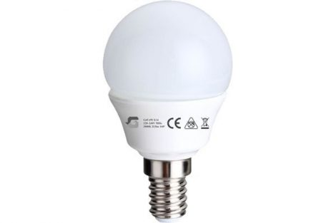 LED izzó G45 5W E14 220-240V ̴ 50/60HZ 3000K