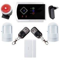 Security vezeték nélkül lakásriasztó GSM-SMS 2db PIR okostelefon