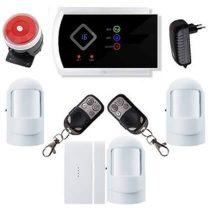 Security vezeték nélkül lakásriasztó GSM-SMS 3db PIR okostelefon