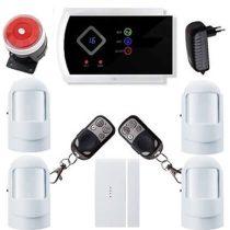 Security vezeték nélkül lakásriasztó GSM-SMS 4db PIR okostelefon