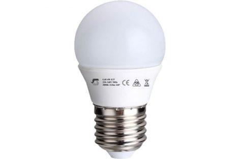 LED izzó G45 4W E27 220-240V ̴ 50/60HZ 3000K