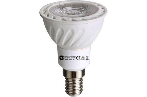 LED izzó JDR E14 COB 6W 100-250V ̴ 50/60HZ 3000K