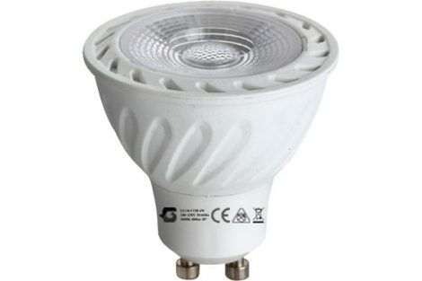 LED izzó GU10 COB 5W 100-245V ̴ 50/60HZ 3000K