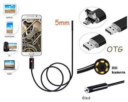 Endoskop Kamera für Android Smartphones mit 2 Meter Kabeln