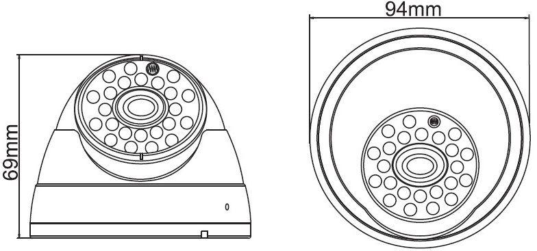 Vandálbiztos dome IP kamera Acesee IP-B20130