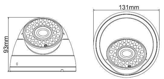 Vandálbiztos térfigyelő dome IP kamera Acesee IP-T30130