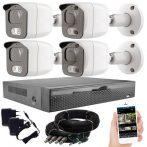 4 kamerás 23 ledes éjjellátó megfigyelő rendszer