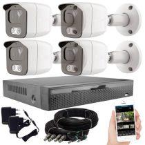 KPC Ts23 - 4 kamerás éjjellátó kamera rendszer 2 MegaPixel HD felbontás