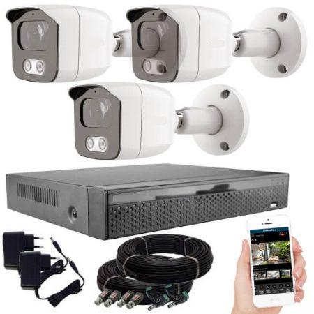3 kamerás 23 ledes éjjellátó megfigyelő rendszer