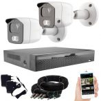 2 kamerás 23 ledes éjjellátó megfigyelő rendszer