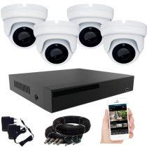 4 kamerás 24 ledes éjjellátó megfigyelő rendszer