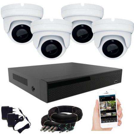 KPC Ts28 - Kamerasystem mit 4 Kameras mit Nachtsicht HD 1920X1080P Auflösung