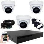 3 kamerás 24 ledes éjjellátó megfigyelő rendszer