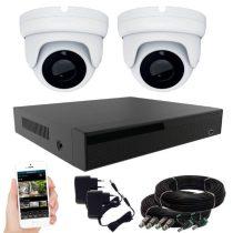 2 kamerás 24 ledes éjjellátó megfigyelő rendszer