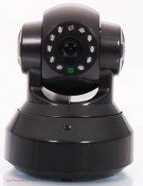 Beltéri IP Wifi kamera SD kártyás felvevővel fekete színben