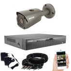 5 megapixeles AHD 1 biztonsági kamerás rendszer házilag szerelhető szett