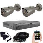5 megapixeles AHD 2 biztonsági kamerás rendszer házilag szerelhető szett