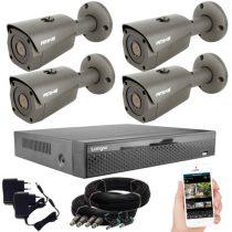 5 megapixeles AHD 4 biztonsági kamerás rendszer házilag szerelhető szett