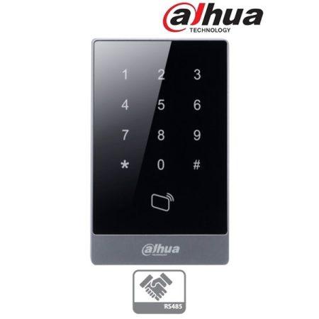 Dahua kártyaolvasó (segédolvasó) és kódzár - ASR1101A (RFID 13,56MHz, RS485, háttérvilágítás)