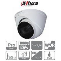 Dahua HAC-HDW2241T-Z-A Turret kamera, kültéri, 2MP, 2,7-13,5mm(motor), IR60m, ICR, IP67, WDR, audio, AHD/CVI/TVI/CVBS