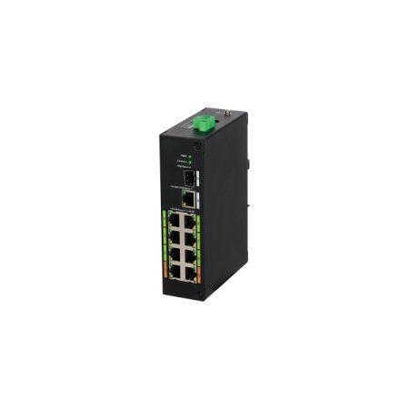 Dahua PoE switch - LR2110-8ET-120 (8x 100Mbps; 8 port Poe;  2x SFP, 120W)