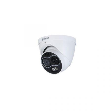 Dahua IP Turret hőkamera - TPC-DF1241-D3F4 (256x192, 3,5mm / 4MP, 4mm, ICR, IR30m, IP67, WDR, audio, I/O, PoE)