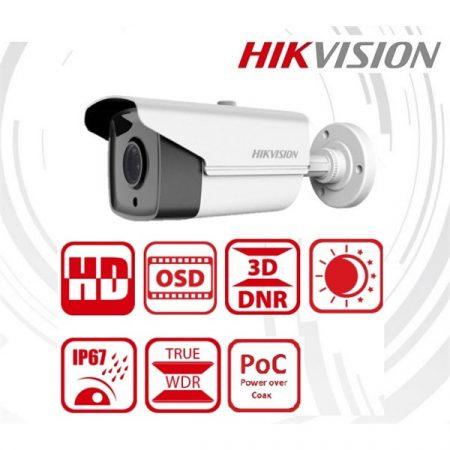 Hikvision Analóg csőkamera - DS-2CC12D9T-IT3E (2MP, 6mm, kültéri, IR40m, ICR, IP67, WDR, 12VDC/PoC)