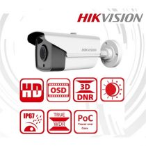 Hikvision DS-2CC12D9T-IT5E Bullet HD-TVI kamera, kültéri, 2MP, 3,6mm, IR80m, ICR, IP67, WDR, 12VDC/PoC