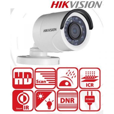 Hikvision 4in1 Analóg csőkamera - DS-2CE16D0T-IRF (2MP, 2,8mm, kültéri, IR20m, D&N(ICR), IP66, DNR)