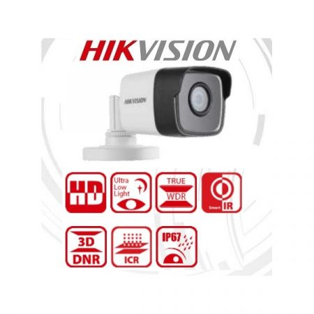 Hikvision 4in1 Analóg csőkamera - DS-2CE16D8T-ITF (2MP, 2,8mm, kültéri, EXIR30m, IP67, WDR, Starlight)