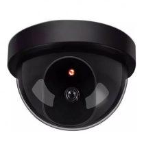 Fekete dome álkamera beépített piros fényű piros leddel