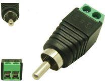 Szerelhető RCA csatlakozó kamera rendszer mikrofonokhoz