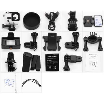 FIREFLY 6S WiFi sportkamera 4K UHD tartozékok