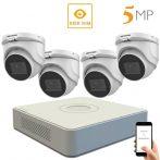 Hikvision 5 megapixeles 4 dome kamerás rendszer 30 méteres látótávolsággal