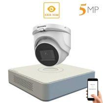 Hikvision 5 megapixeles 1 dome kamerás rendszer 30 méteres látótávolsággal