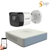 Hikvision 5 megapixeles 1 kamerás kamerarendszer 20 méter látótávolsággal