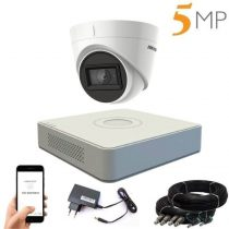 Hikvision 5 megapixeles 1 kamerás dome kamerarendszer 40 méter látótávolsággal