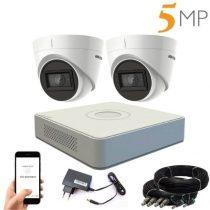 Hikvision 5 megapixeles 2 kamerás dome kamerarendszer 40 méter látótávolsággal