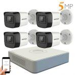 Hikvision 5 megapixeles 4 kamerás kamerarendszer 20 méter látótávolsággal
