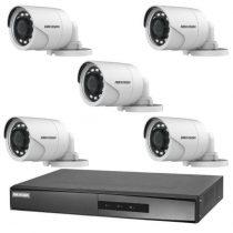 Hikvision TurboHD-TVI 5 kamerás kamerarendszer