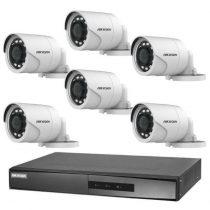 Hikvision TurboHD-TVI 6 kamerás kamerarendszer
