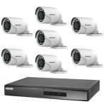 Hikvision TurboHD-TVI 7 kamerás kamerarendszer
