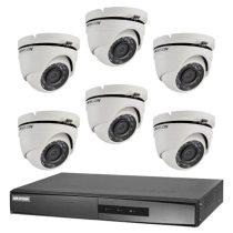Hikvision TurboHD-TVI 6 dome kamerás kamerarendszer
