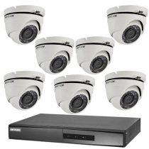 Hikvision TurboHD-TVI 7 dome kamerás kamerarendszer