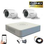 Hikvision TurboHD Kamerasystem mit 2 Kamera 2MP