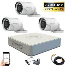 Hikvision TurboHD-TVI 3 kamerás kamerarendszer