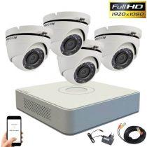 Hikvision TurboHD System mit 4 Dome Kamera