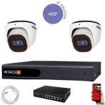 Provision 4 Megapixeles 2 dome kamerás IP rendszer