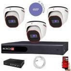 Provision 4 Megapixeles 3 dome kamerás IP rendszer