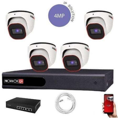 Provision 4 Megapixeles 4 dome kamerás IP rendszer